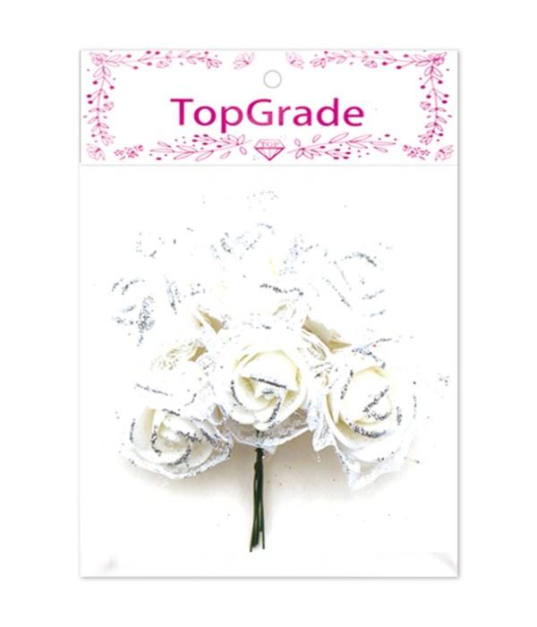 deco.foam rose white 12/600s