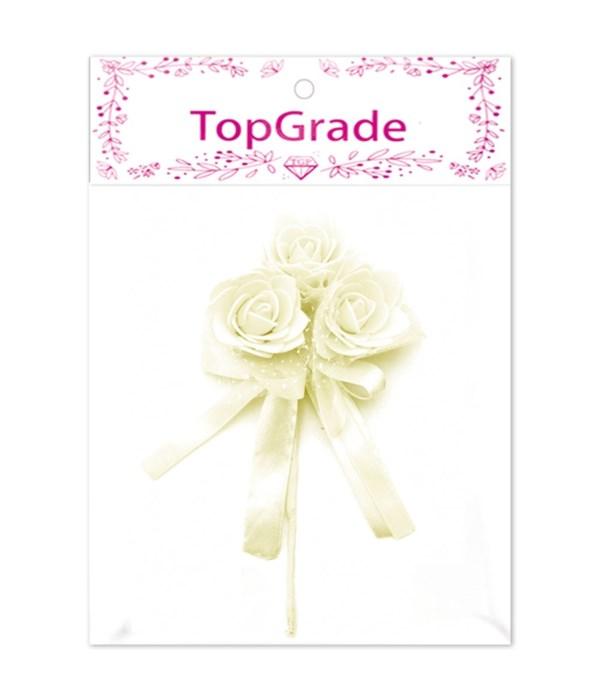 decorative foam rose beige