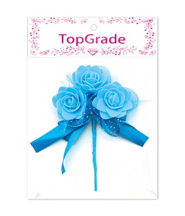 decorative foam rose bb-blue