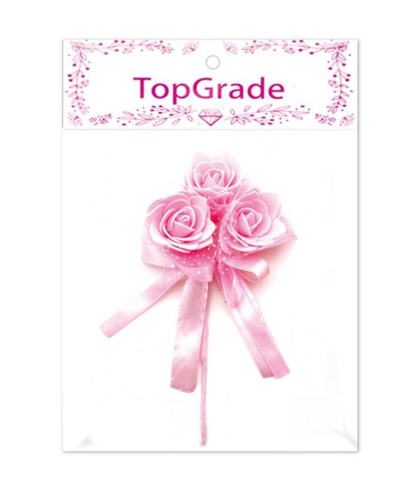 decorative foam rose bb-pink