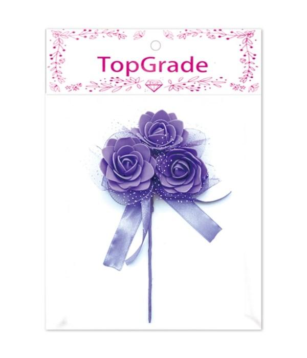 decorative foam rose purple