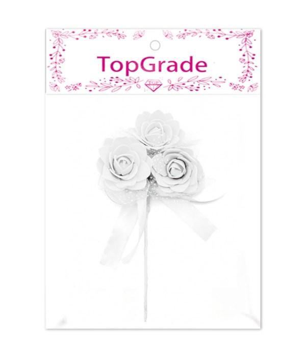 decorative foam rose white