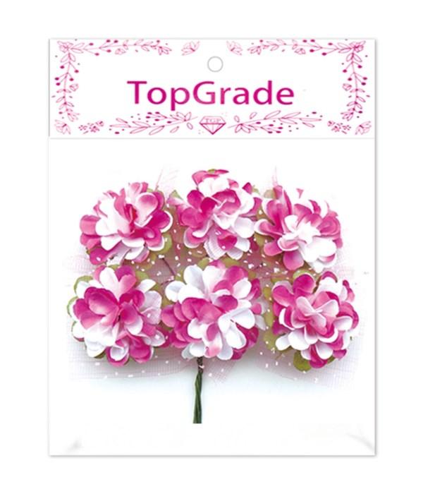 decor. paper flower hot pink