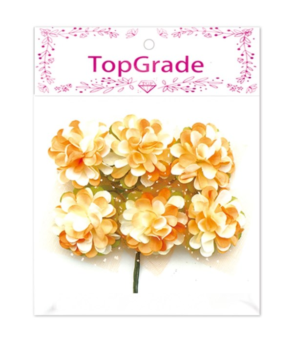 decor. paper flower orange
