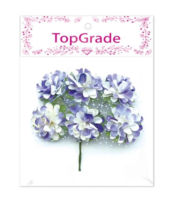 decor. paper flower purple