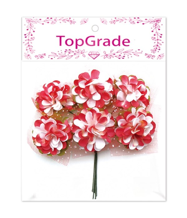 decorative paper flower red