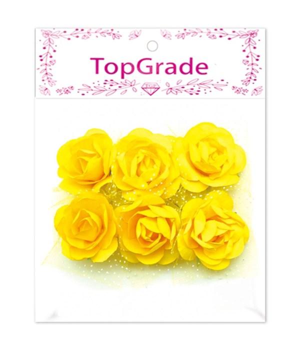 deco.foam rose yellow 12/600s