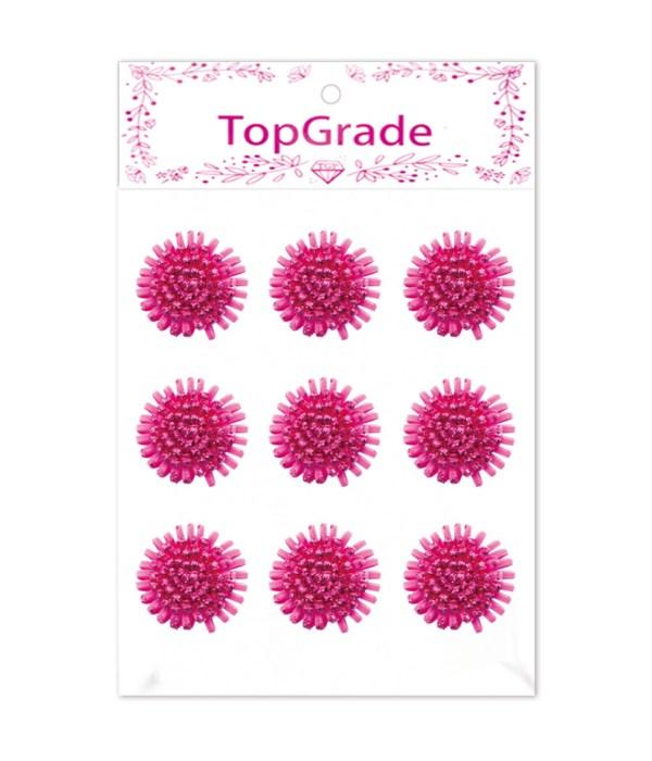 foam flower hot pink 12/288s