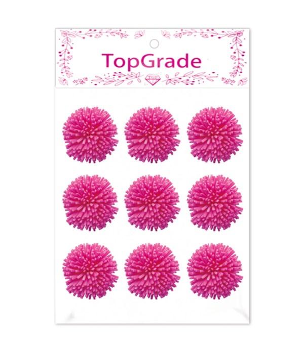 foam flower hot pink