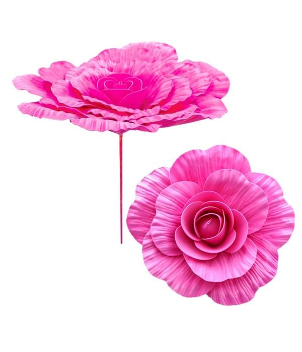 """12""""foam flower hot pink 12/48"""
