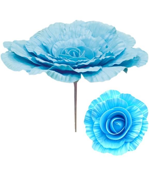 """12""""foam flower bb-blue 12/48s"""