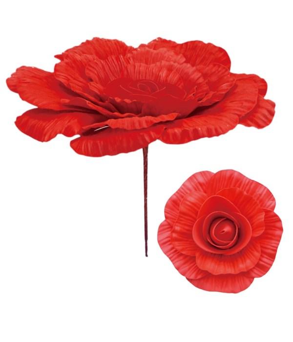 """12"""" foam flower red 12/48s"""