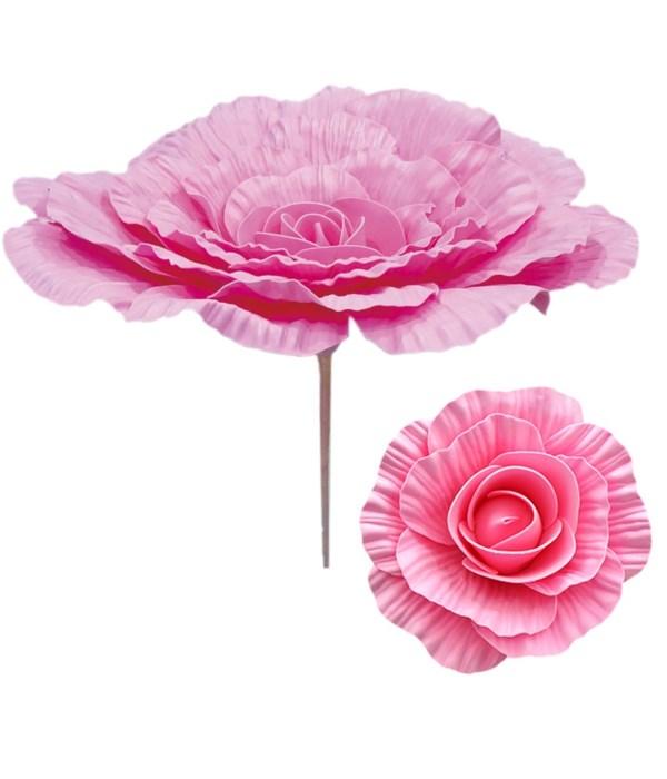 """16""""foam flower bb-pink 12/48s"""