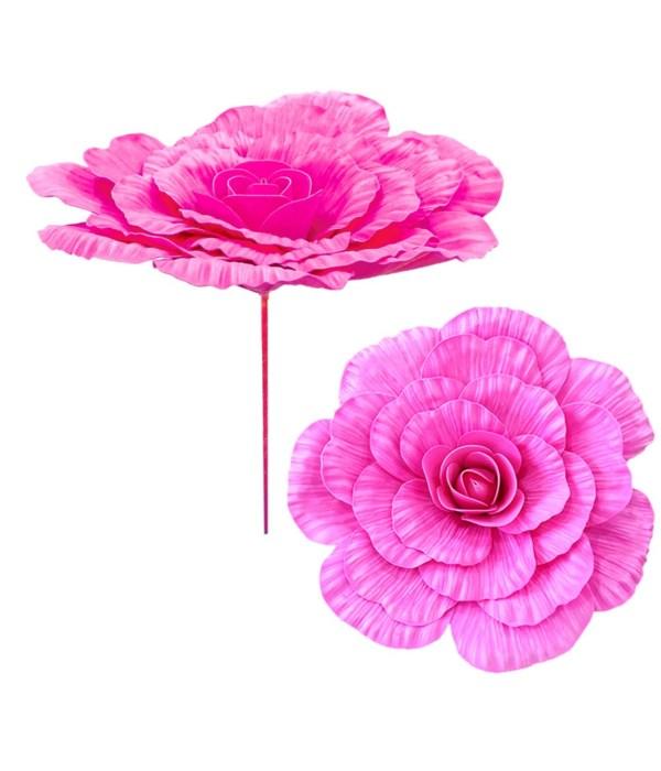 """20""""foam flower hot pink 12/48"""