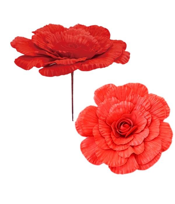 """20""""foam flower red 12/48s"""
