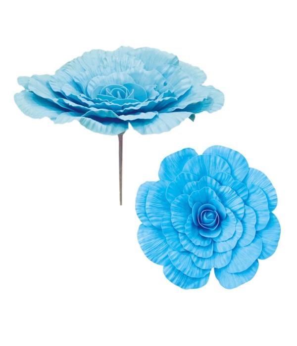 """24""""foam flower bb-blue 12/48s"""