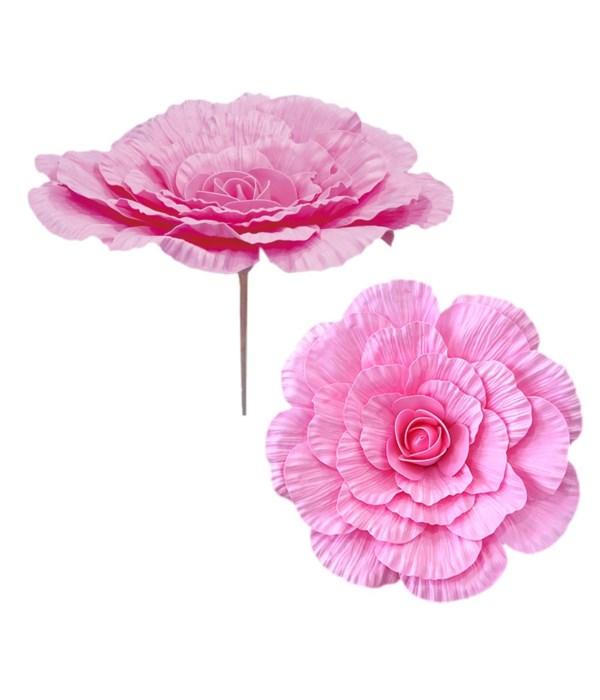 """24""""foam flower bb-pink 12/48s"""
