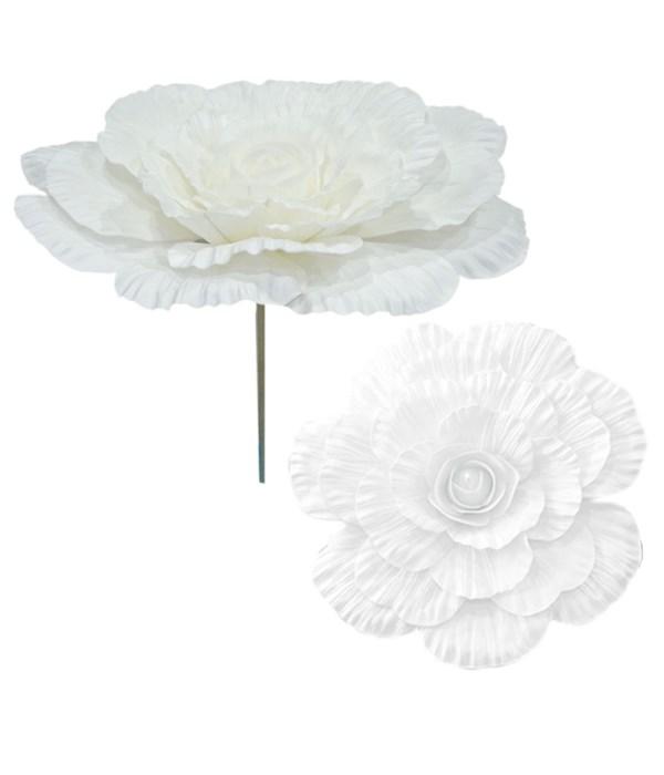 "24""foam flower white 12/48s"