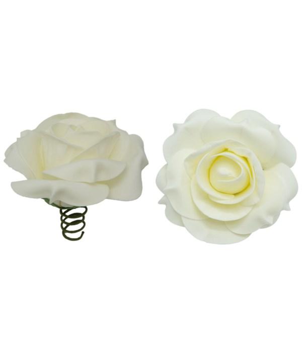 "8""foam rose white 6/96s"