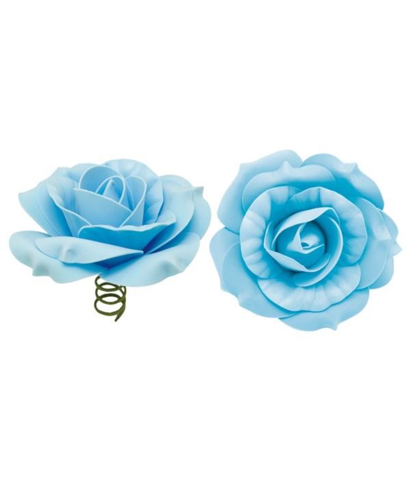 """12""""foam rose bb-blue 6/72s"""