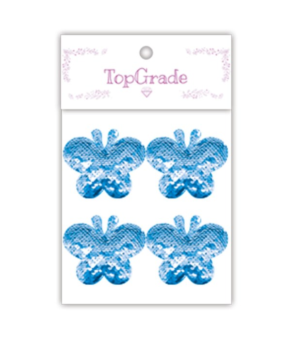 sequin butterfly blue 12/300s