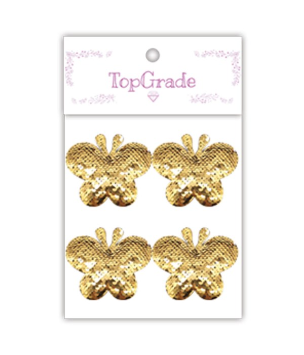 sequin butterfly gold 12/300s