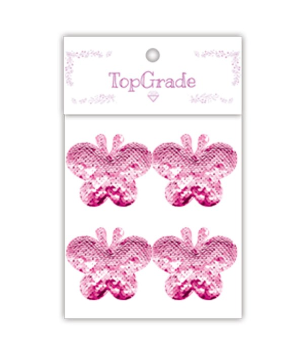 sequin butterfly pink 12/300s