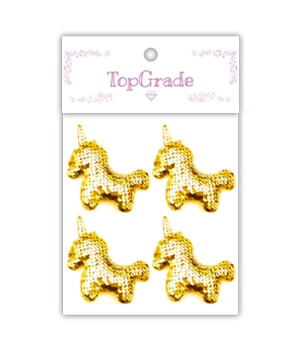 sequin unicorn gold 12/300s