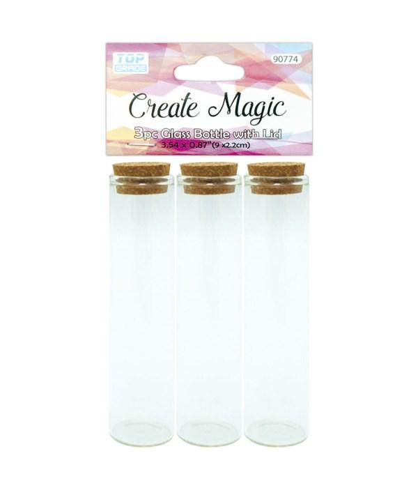 3ct mini glass vials 12/144s