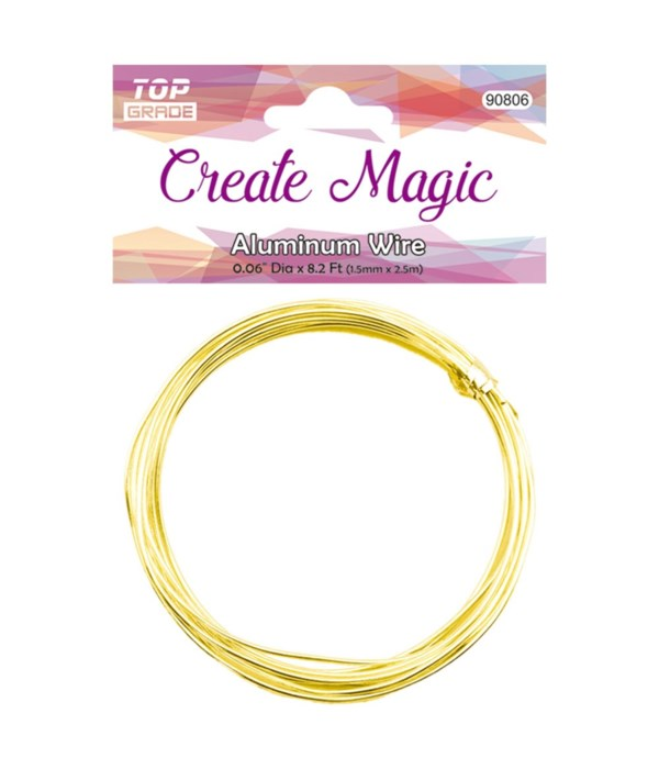 1.5mm/8.2ft gold wire 12/600s