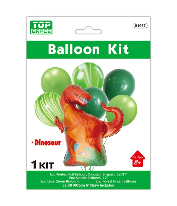 7ct dino balloon set 12/300s