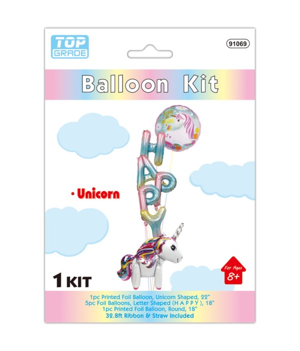 7pc unicorn balloon set 12/300