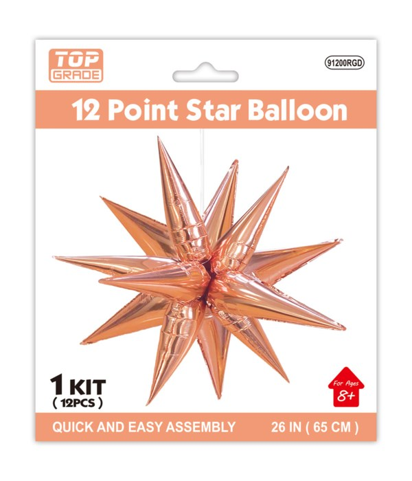 "26"" star foil balloon 12/168s"