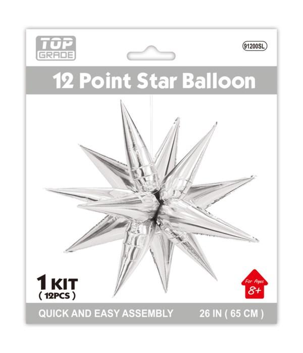 "26"" point star foil balloon"