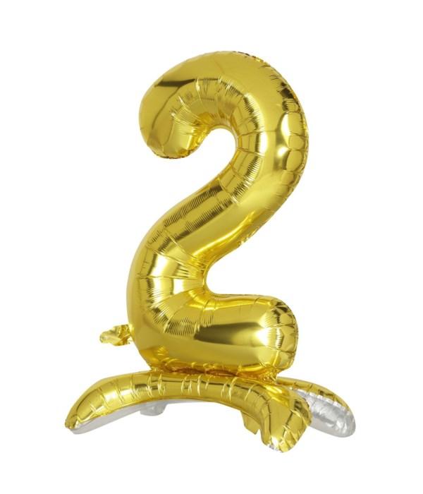 """30"""" standing balloon gold #2"""