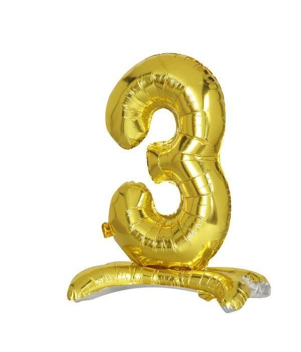 """30"""" standing balloon gold #3"""