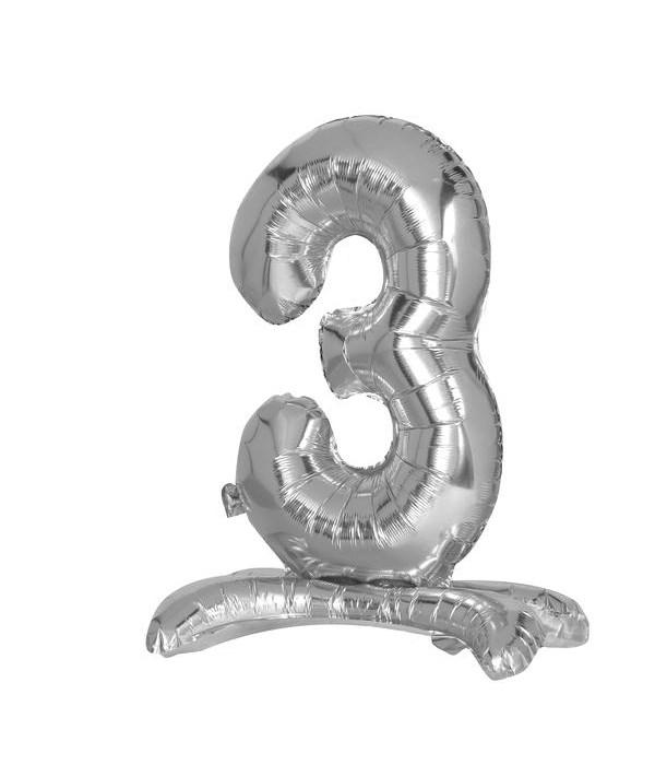 "30"" standing balloon silver #3"