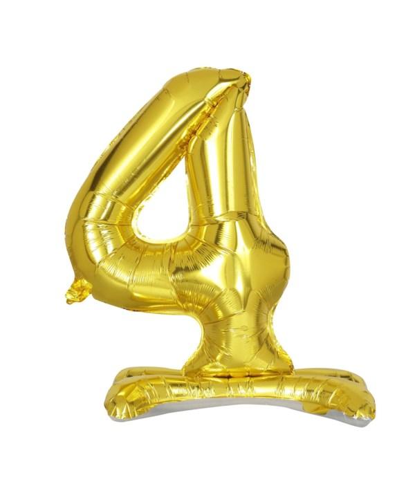 """30"""" standing balloon gold #4"""
