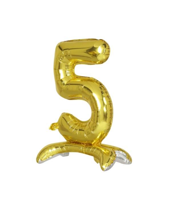 """30"""" standing balloon gold #5"""
