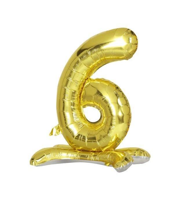 """30"""" standing balloon gold #6"""