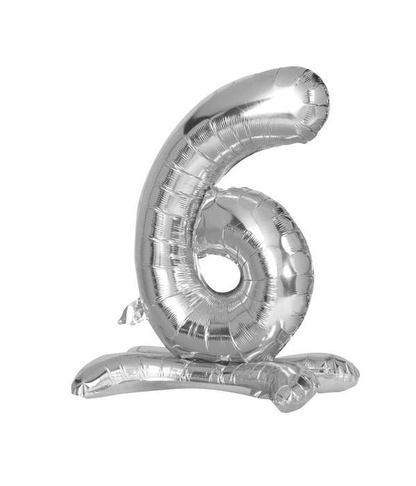 "30"" standing balloon silver #6"