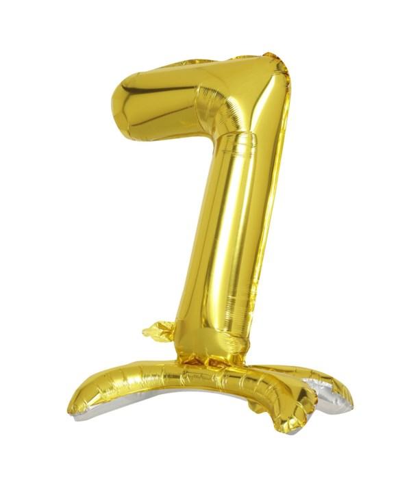 """30"""" standing balloon gold #7"""