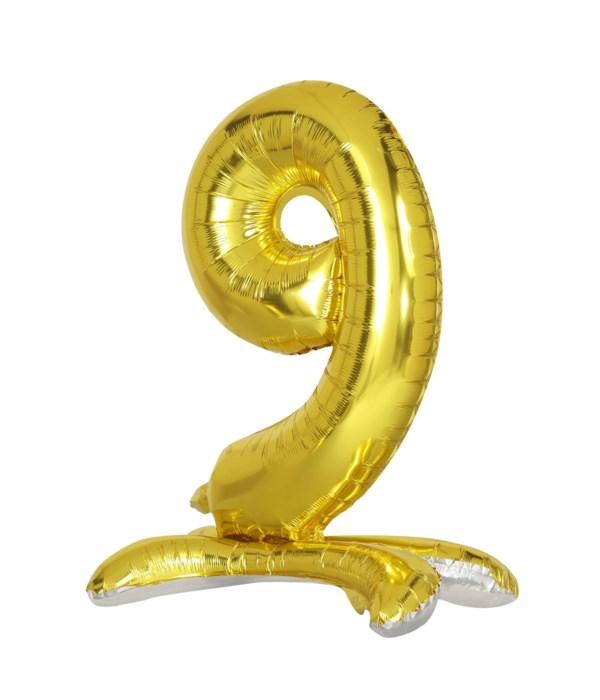 """30"""" standing balloon gold #9"""