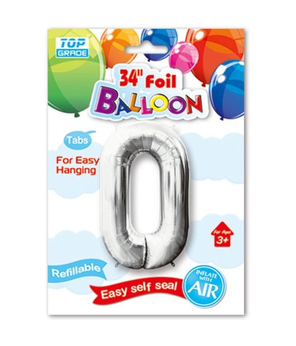 """26""""silv foil balloon #0 12/600"""