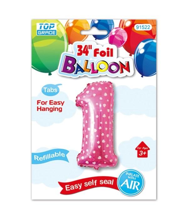 "26""pink foil balloon #1"