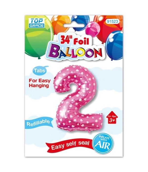 "26""pink foil balloon #2"
