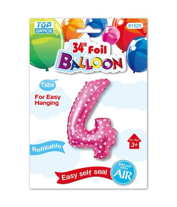 "26""pink foil balloon #4"