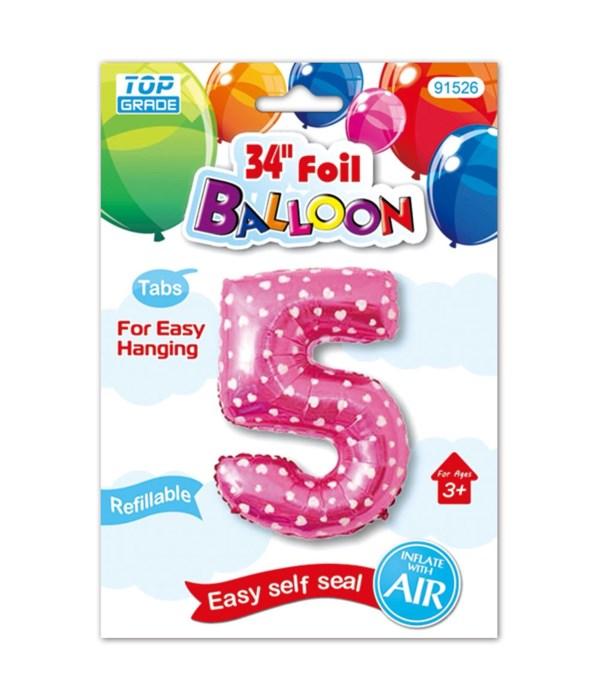 "26""pink foil balloon #5"