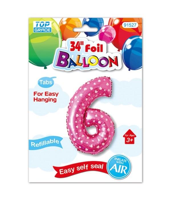 "26""pink foil balloon #6"