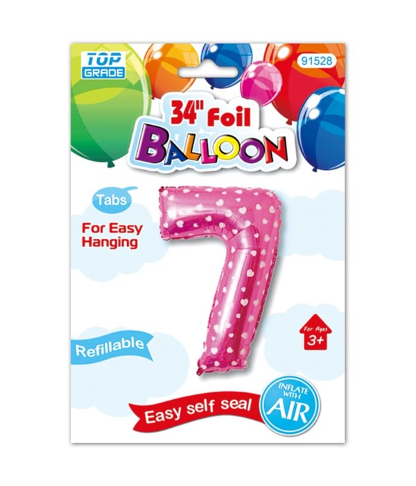 "26""pink foil balloon #7"